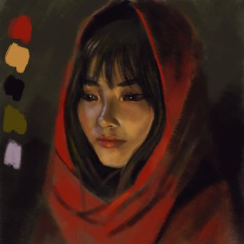 Color Study with zorn palette by Arthera