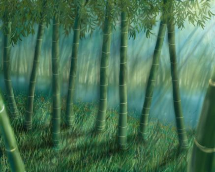 Bamboo Forest by Islandmountain
