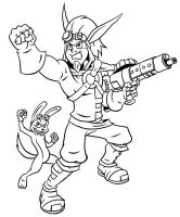Jak and Daxter - Inks by Marvelousboy