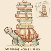 Galapagos Mobile Library - book-tote by InfinityWave