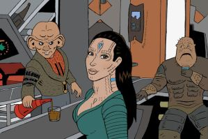 Kim Cardassian by rocketdave