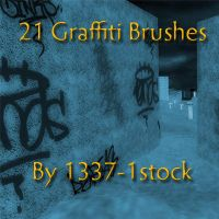 Graffiti Brushes by 1337-1stock