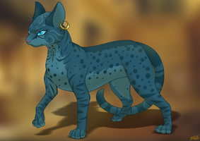 The First Blue Cat - Majikou by Lightningkin