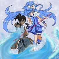 Legend of Korra x Smile Precure crossover by I-am-Miss-Duckie