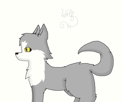 A wolf by Redfeathercat