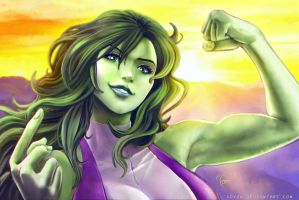 She Hulk by Adyon