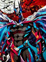 Batman The Dark Knight. Photo stained glass by Art-Brother