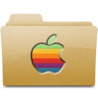 Retro Apple Folder by walexm311