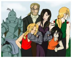 Elric Family Portrait-colored by GoldphishCrackers