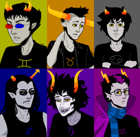 The Dashing Dude Trolls of Homestuck by ThePuddingMonster