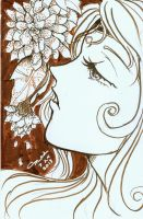 ACEO: Stippled Flora by marikit