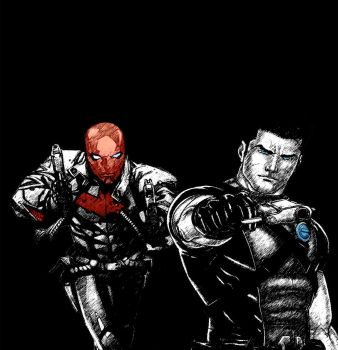 Grayson and Red Hood by Aj53c