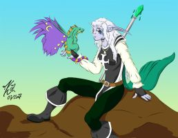 Raeda and her darter-- colored by Wolfbird