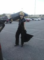 Ready for a fight-Cloud Strife cosplay with sword1 by fruitsbasketfreak91