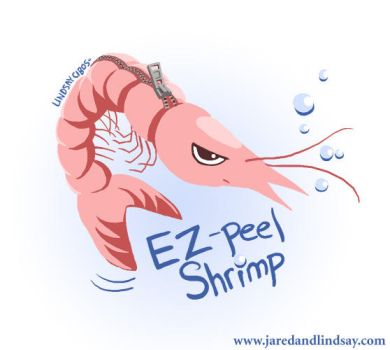EZ-peel Shrimp by peachfuzzmargins