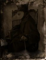 The Plague Doctor Awaits A Call by Estruda