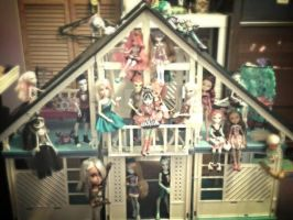 My dollies love my finished doll house! by AlexusArt-is-back