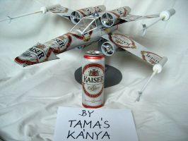 star wars x-wing beer can by tom-tom1969