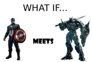 What if Captain America met Optimus Prime by ChipmunkRaccoon2