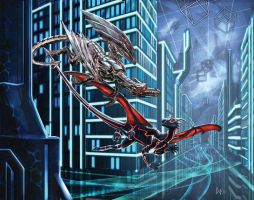 Flight through Cyberspace by CBSorgeArtworks