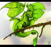 Leaf Dragon by Youshallfearme2
