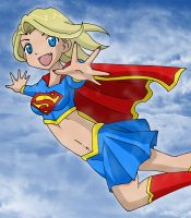 Supergirl Flying by Glee-chan