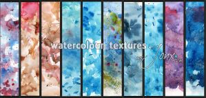 Watercolour Textures by mejony