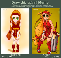 Draw this again! Meme - Iopette Szanta from Dofus by husaria-chan