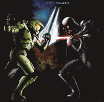 Halo VS Star Wars by BannerWolf