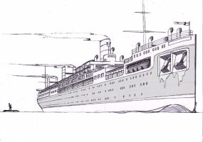 Ocean Liner fictional by thebigemeraldpeacock