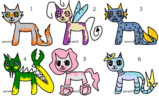 Cat for Adopt Points - OPEN by Zahrah123