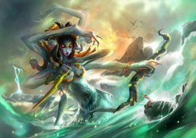lady of ocean:vashj by breathing2004
