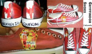 Gryffindor Shoes by Cally-wally