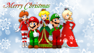 Merry Christmas from Mario and Friends 2016 by BradMan267