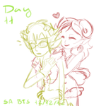 Tainted Advent 2012 - Day 11 (Late Sollux Cutsy~) by Taiinty
