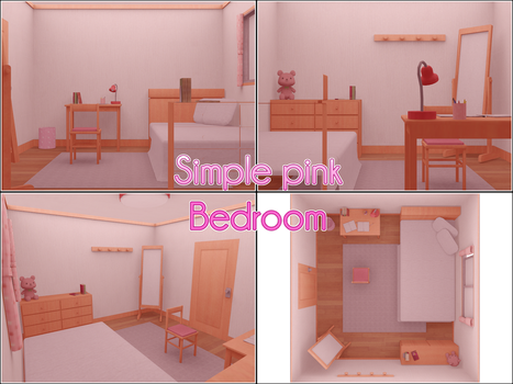 Pink bedroom by kaahgomedl