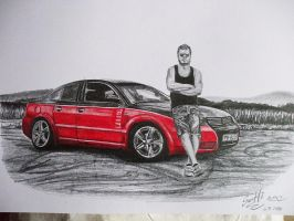 my friend and his car by SusHi182