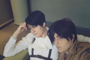 Levi and Eren at Connichi 2014 by Kawaii-Fruit