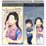 Singing with earphone by KrisantiComics