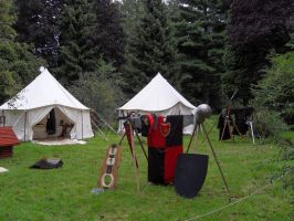 camp in the middle ages by Kroenen1488