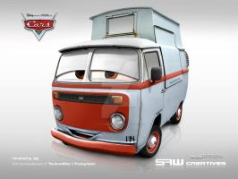 VW van Disney CARS 'JAY' by yasiddesign