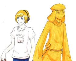 PewDiePie and Stephano by ArekkuAika
