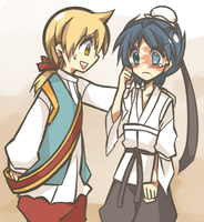 [Magi]Alibaba and Hakuryu by mintnatt