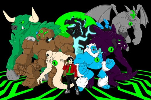 Core Chronicles group drawing commission by helios485