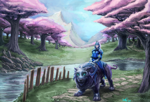 Dota 2 Fan Art - Luna by RubensNM