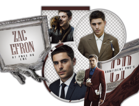 Png Pack 651 // Zac Efron by confidentpngs