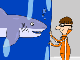 Vector in love with shark by nickel8