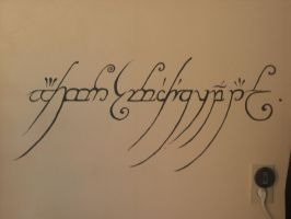 lord of the rings wall paint by tartis
