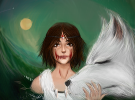 Princess Mononoke by ScribbledAway
