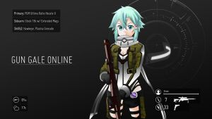 Sword Art Online (GGO) - Sinon by Wes2299